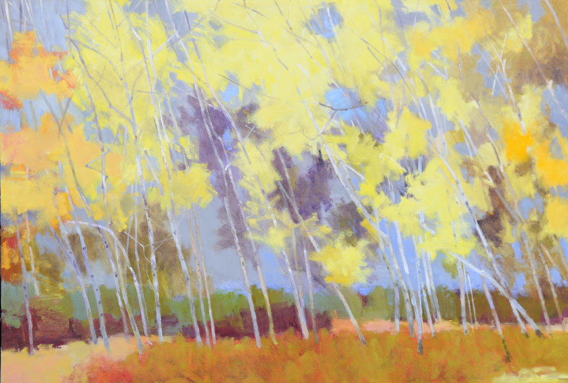 Birches Bent to the Wind  48″ X 70″