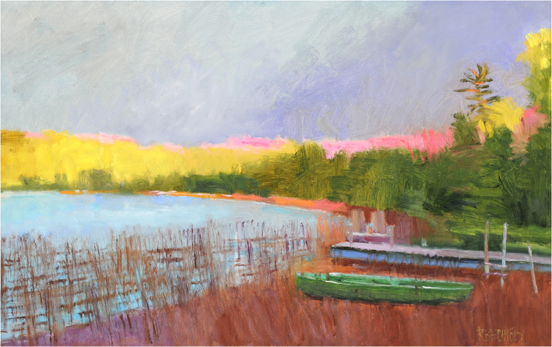 Dusk Falls On Little Lake  28″ X 44″